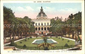 Saint Etienne Loire Jardins de la Place Marengo Hotel de Ville Kat. Saint Etienne