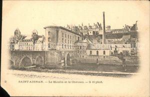 Saint Aignan Loir et Cher Moulin et le Chateau Kat. Saint Aignan