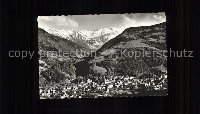 Allevard les Bains Isere Vue generale et le Gleyzin Alpes Francaises Kat. Allevard