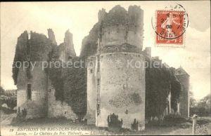 Lassay les Chateaux Chateau du Bois Thibault Ruines Stempel auf AK Kat. Lassay les Chateaux