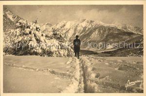 Montgenevre Sports d Hiver vue panoramique Alpes Kat. Montgenevre