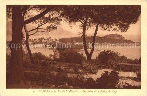 Saint Jean Cap Ferrat Pointe Saint Hospice vue prise de la Pointe du Cap Kat. Saint Jean Cap Ferrat