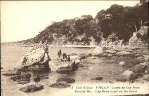 Toulon Var Route du Cap Brun Bord de Mer Cote d Azur Kat. Toulon