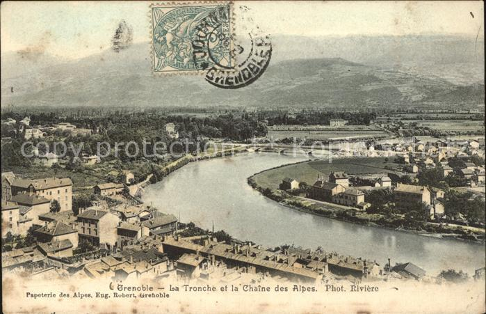 Grenoble La Tronche et Chaine des Alpes Kat. Grenoble