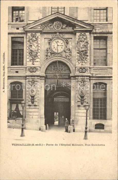 Versailles Yvelines Porte de l Hopital Militaire Rue Gambetta Kat. Versailles
