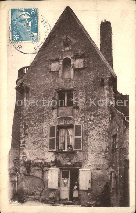 Ainay le Chateau Vieux Chateau Stempel auf AK Kat. Ainay le Chateau