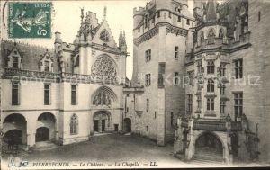 Pierrefonds Oise Chateau Chapelle Stempel auf AK Kat. Pierrefonds