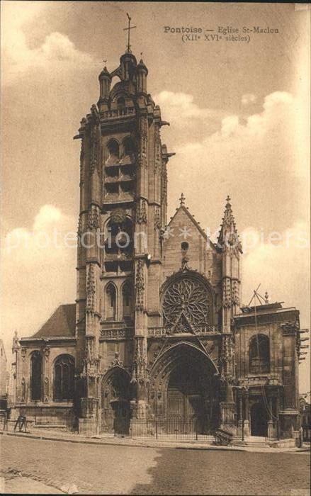 Pontoise  Val d Oise Eglise Saint Maclou Kat. Pontoise
