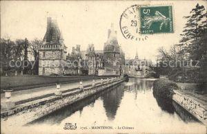 Maintenon Chateau Stempel auf AK Kat. Maintenon