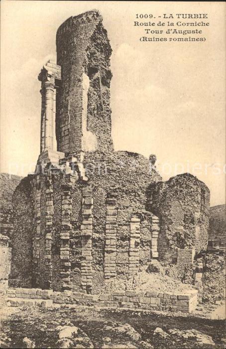 La Turbie Route de la Corniche Tour d Auguste Ruines romaines Kat. La Turbie