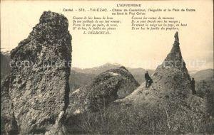 Thiezac Chaos de Casteltinet Aiguille et Pain de Sucre Puy Griou Rocher Kat. Thiezac