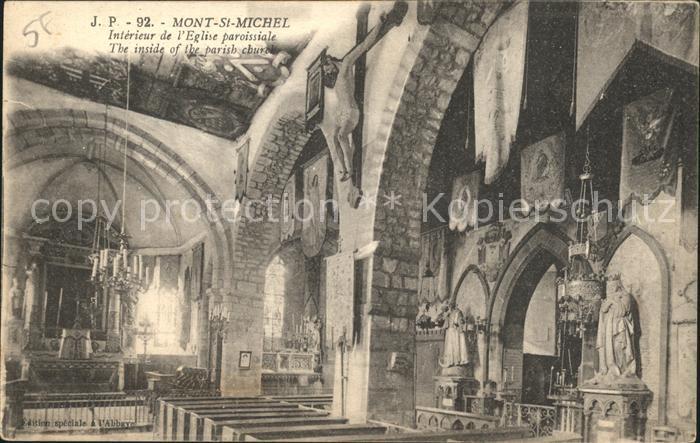 Mont Saint Michel Interieur de l Eglise paroissiale Kat. Pontorson ...