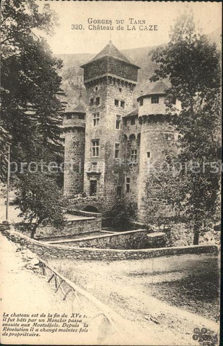 Sainte Enimie Chateau de La Caze Gorges du Tarn Kat. Sainte Enimie