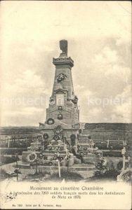 Metz Moselle Monument aux Morts au cimetiere Chambiere Kat. Metz