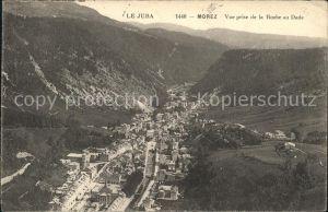 Morez Panorama vue prise de la Roche au Dade Kat. Morez