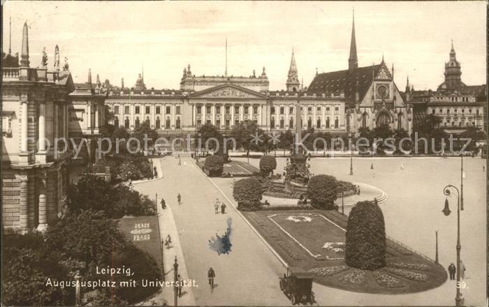 Leipzig Augustusplatz mit Universitaet Kat. Leipzig