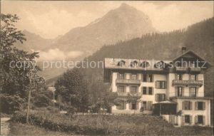 Les Plans sur Bex Hotel Pension Tanner et le Grand Muveran Waadtlaender Alpen Kat. Les Plans sur Bex