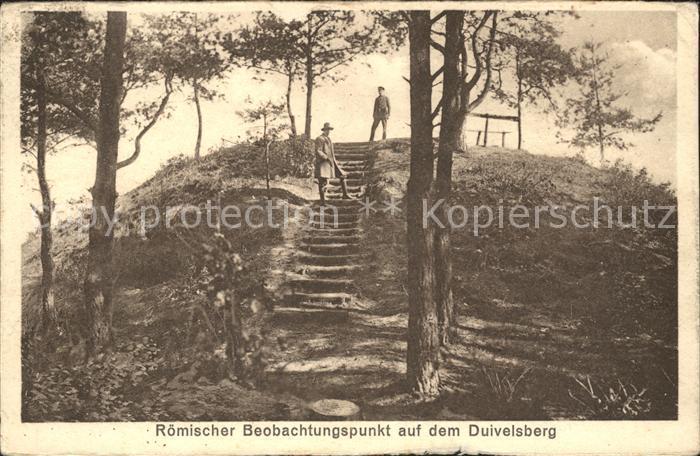 Nijmegen Roemischer Beobachtungspunkt auf dem Duivelsberg Kat. Nijmegen