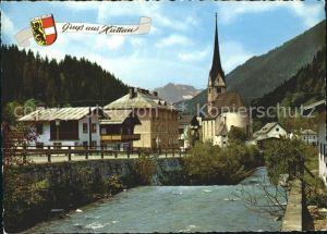 Huettau Gebirgsdorf im Fritzbachtal Kirche Sommererholungsort Wappen Kat. Huettau