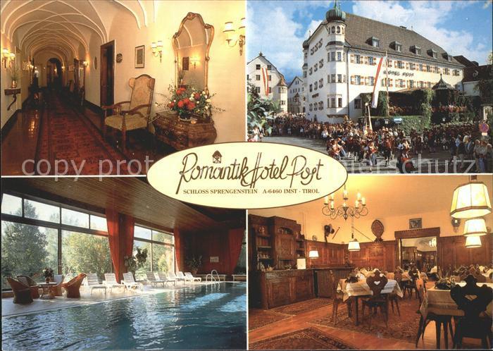 Imst Tirol Romantik Hotel Post Schloss Sprengenstein Hallenbad Festumzug Kat. Imst