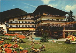 Obsteig Tirol Tyrol Hotel Swimming Pool Kat. Obsteig