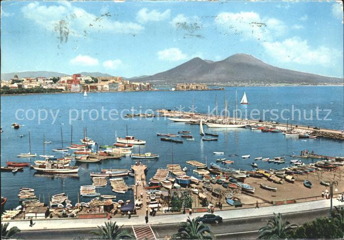 Napoli Neapel Mergellina Hafen Kat. Napoli