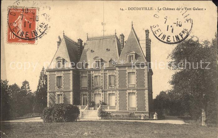 Doudeville Chateau de Vert Galant Stempel auf AK Kat. Doudeville