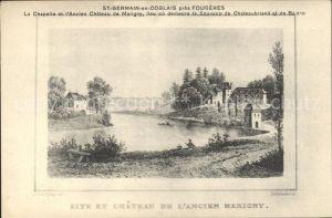 Saint Germain en Cogles Chapelle et ancien Chateau de Marigny Kat. Saint Germain en Cogles