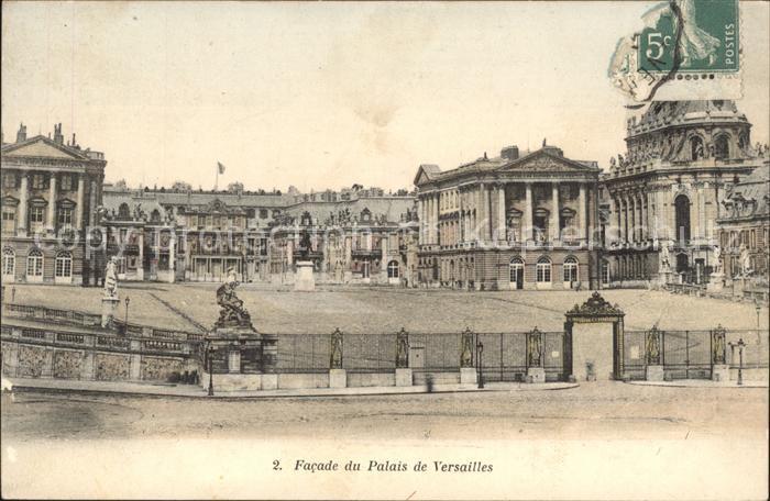 Versailles Yvelines Facade du Palais Kat. Versailles