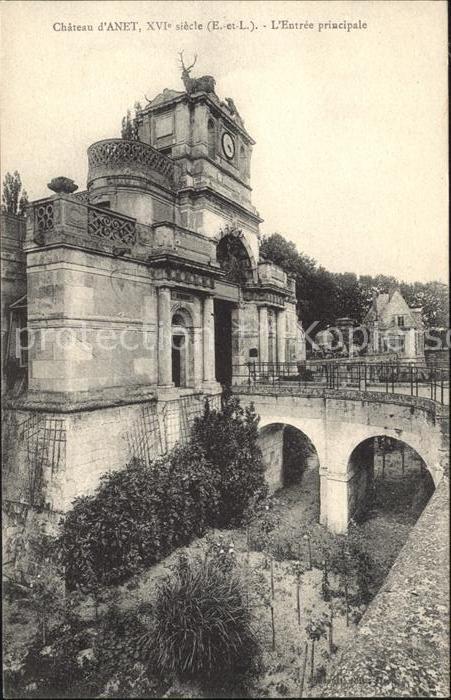 Anet Chateau XVI siecle Entree principale Pont Kat. Anet