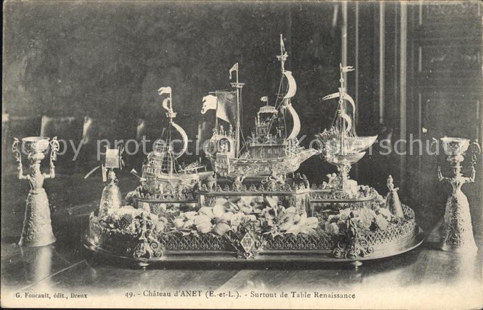 Anet Chateau Surtout de Table Renaissance Kat. Anet
