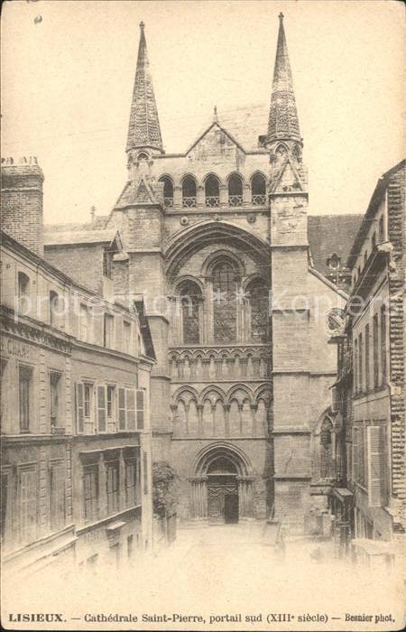 Lisieux Cathedrale Saint Pierre Portail sud XIII siecle Kat. Lisieux
