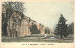 Maintenon Chateau Aqueduc en perspective Kat. Maintenon