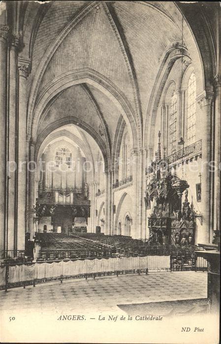 Angers La Nef de la Cathedrale Kat. Angers