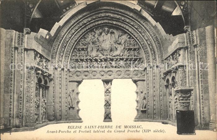 Moissac Eglise Saint Pierre Porche Portail XII siecle Kat. Moissac