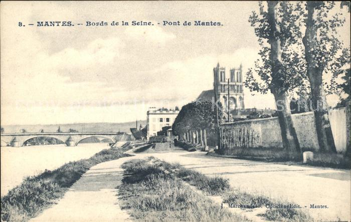 Mantes la Jolie Bords de la Seine Pont Kat. Mantes la Jolie