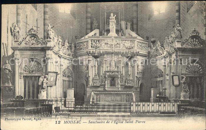 Moissac Sanctuaire de l Eglise Saint Pierre Kat. Moissac