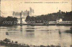 Pierrefonds Oise Chateau vue prise de la Gare Kat. Pierrefonds