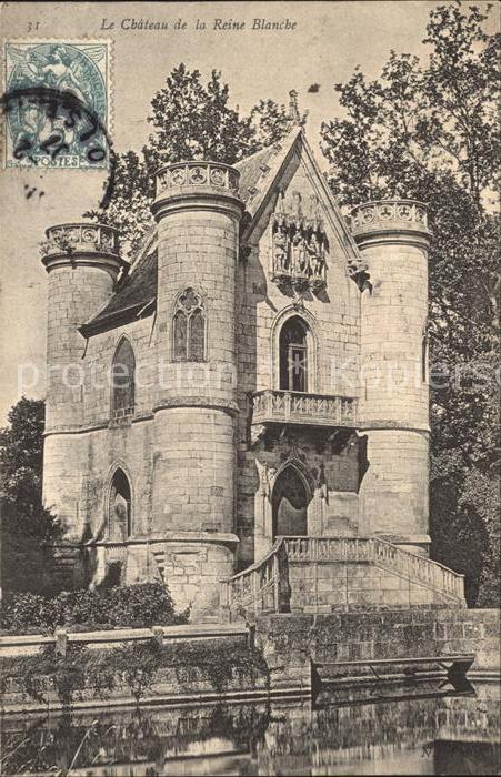 Coye la Foret Chateau de la Reine Blanche Stempel auf AK Kat. Coye la Foret
