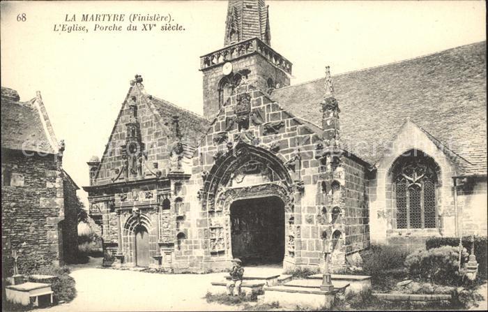 La Martyre Eglise Porche du XV siecle Kat. La Martyre