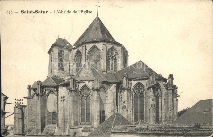 Saint Satur Abside de l Eglise Kat. Saint Satur