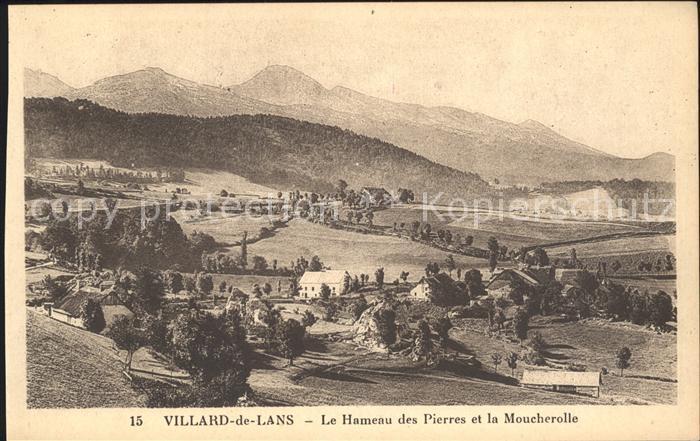 Villard de Lans Panorama Le Hameau des Pierres et la Moucherolle Kat. Villard de Lans
