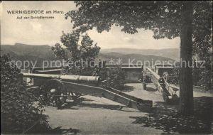 Wernigerode Harz Schlossterrasse Kanonen Kat. Wernigerode