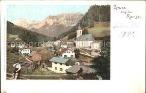 Ramsau Berchtesgaden Ortsansicht mit Kirche Kat. Ramsau b.Berchtesgaden