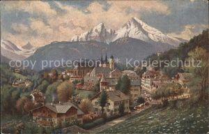 Berchtesgaden Ortsansicht mit Alpenpanorama Kat. Berchtesgaden