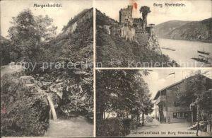 Trechtingshausen Morgenbachtal Burg Rheinstein Schweizerhaus Kat. Trechtingshausen
