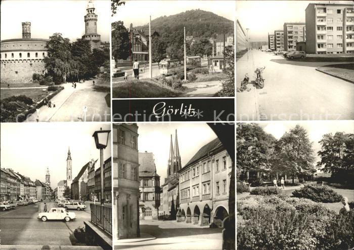 Goerlitz Sachsen Kaisertrutz Reichenbacher Turm Leninplatz Moench Landeskrone Untermarkt mit Lauben / Goerlitz /Goerlitz LKR