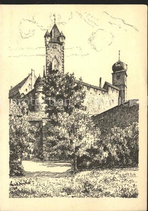 Coburg Veste Koburg Zeichnung Kat. Coburg