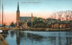 Haarlem Zuider Buitenspaarne Kathedraal Boot Kathedrale Kat. Haarlem