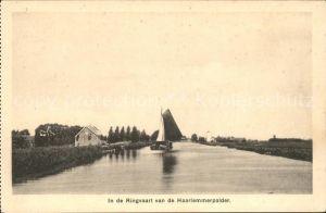 Haarlem In de Ringvaart van de Haarlemmerpolder Kanal Kat. Haarlem